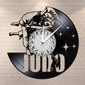 Japanischen Martial Art Home Decor Judo Vinyl Record Wanduhr Jiu-Jitsu Rahmenlose Stille Nicht tickt Wand Uhr Judoka geschenke
