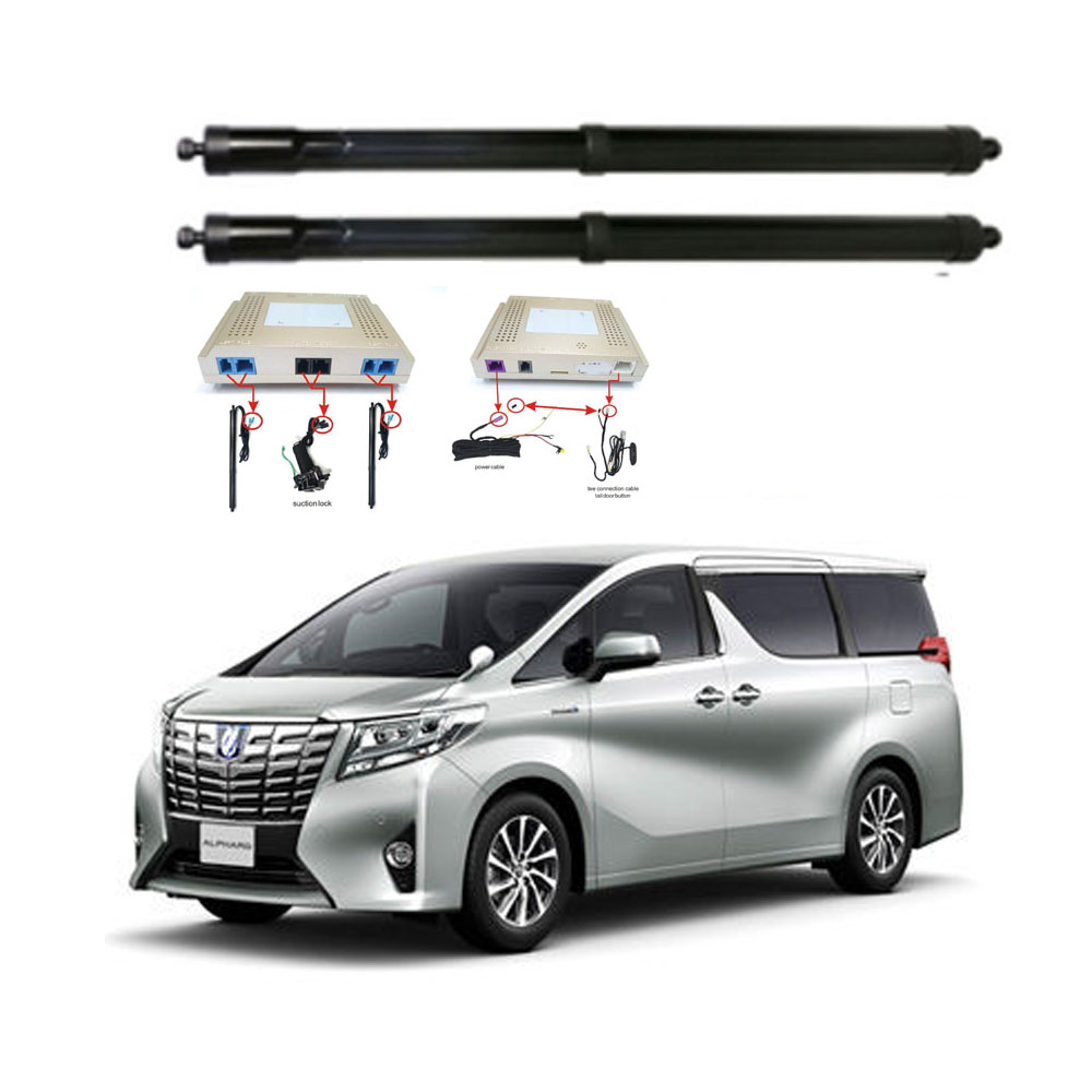 New Electric Tailgate Refitted For Toyota ALPHARD VELLFIRE  Tail Box Intelligent Electric Tail Door Power Tailgate Lift Lock