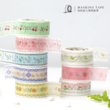 Sticker Masking-Tape Flower Forest-Series Stationery Label Decorative Diy Scrapbooking