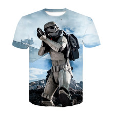 Darth Vader Star Wars Movie 3D Print T-Shirt Men's and Women's Harajuku T-Shirt Casual T-Shirt O Collar stranger things t shirt(China)