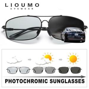 Image 3 - 2020 moda pamięci metalowe okulary przeciwsłoneczne mężczyźni spolaryzowane fotochromowe dzień okulary do jazdy nocą kobiety przebarwienia soczewki lentes de sol