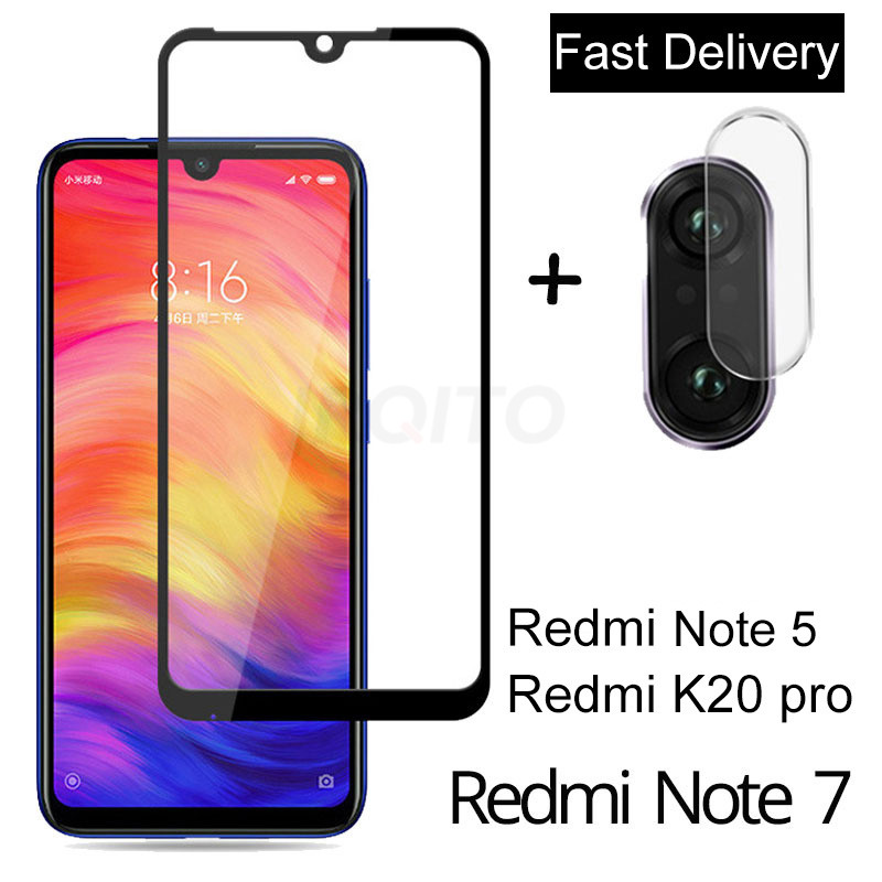 2-in-1 Camera Glass For Redmi Note 7 5 Tempered Glass Screen Protector For Xiaomi Redmi 6 7 Note 7 5 K20 Pro Screen Protector