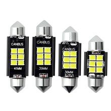 2X Festoon C5W C10W светодиодный светильник 3030 6SMD Canbus без ошибок авто Интерьер Doom лампа 31 мм 36 мм 39 мм 41 мм номерной знак белый