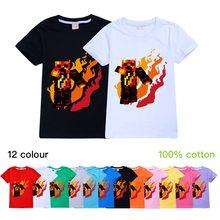 Crianças meninos youtube prestonplayz gamer preston playz estilo 2020 t-shirts para meninas crianças fogo logotipo imprimir topos verão camisetas