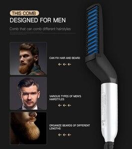 Image 3 - szczotka do wlosow beard straightener beard comb hair brush grzebień barber prostownica do brody расческа grzebień comb hair comb hairbrush grzebienie fryzjerskie szczotka do włosów grzebienie do prostowania włosów