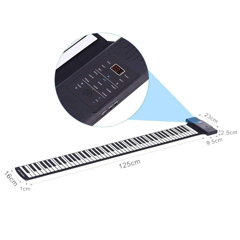 flexível macio silicone teclado de música eletrônica