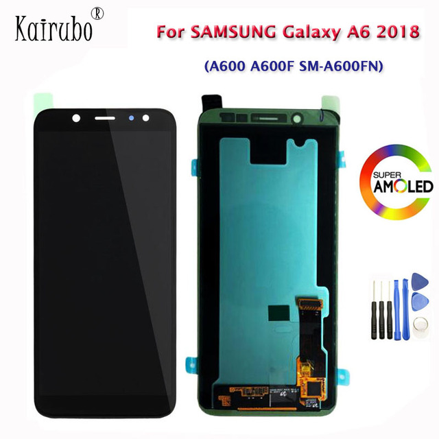 """5.6"""" For Samsung Galaxy A6 2018 A600 A600F SM A600FN AMOLED LCD Display Touch Screen Digitizer TFT Brightness Control LCD +Tools"""