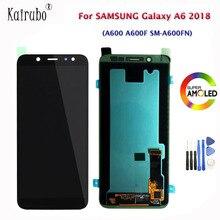 """5.6 """"สำหรับ Samsung Galaxy A6 2018 A600 A600F SM A600FN AMOLED จอแสดงผล LCD Touch Screen Digitizer TFT ความสว่างควบคุม LCD + เครื่องมือ"""