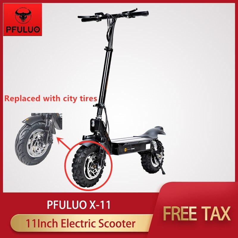 2020 PFULUO X-11 Scooter électrique intelligent 48v 1000W moteur 11 pouces remplacé par des pneus de ville planche à roulettes hoverboard 50 km/h