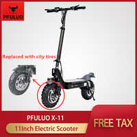 2020 PFULUO X-11 Smart Electric Scooter 48v 1000W Motor 11 inch Replaced with city tires Board hoverboard skateboard 50km/h