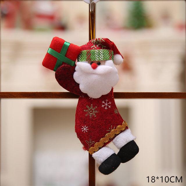 New Year 2020 Cute Santa Claus/Snowman/Angel Christmas Dolls Noel Christmas Tree Decoration for Home Xmas Navidad 2019 Kids Gift 48