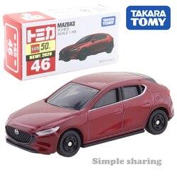 Takara tomy tomica no.46 mazda 3 escala 1 : 66 carro pop quente crianças brinquedos do veículo a motor diecast metal modelo colecionáveis novo
