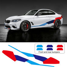 Pegatinas decorativas para coche, calcomanías deportivas de vinilo, pegatinas de rayas de competición para BMW 1 2 3 4 5 6 series M2 M3