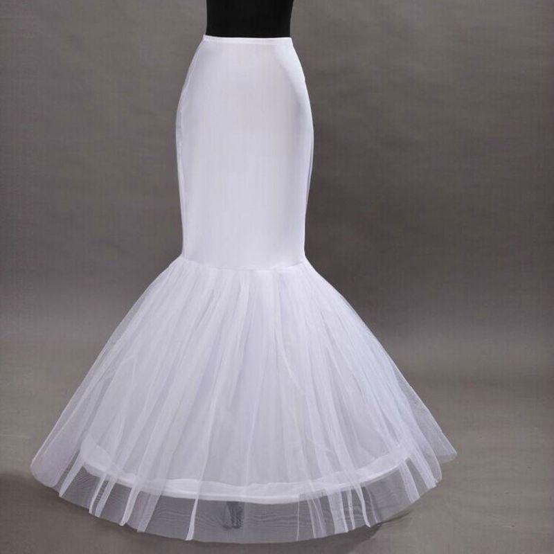 Wedding Dress Fishtail Skirt Support Petticoat Bride Women Prom Bag Hip Slip Skirts Liner Long Style E15E