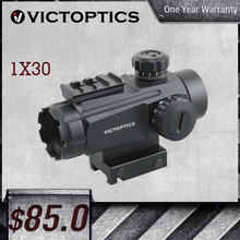 VictOptics 1X30 Red Dot Sight 11 Levels Red/Green Dot Intensity Rifle Scope Designed For Real Fire Arms Fit AR15 M4 AK47