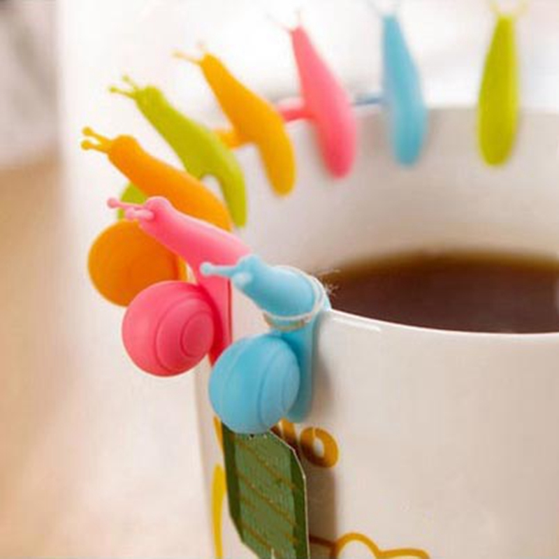 2 Pieces Cooking Tools Small Snail Recognizer Device Tea Infuser Cup Of Tea Hanging Bag Color Randomly