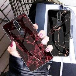 На Алиэкспресс купить стекло для смартфона tempered glass marble patterned phone case for nokia x6 7 3.1 7.1 x7 9 4.2 1 x71 plus protective shockproof cover case fundas