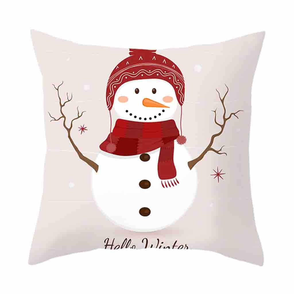 חג המולד כרית כיסוי בית תפאורה Cojines כרית מקרה ספה מותניים לזרוק ציפות Housse דה קזין כרית כיסוי Kussenhoes