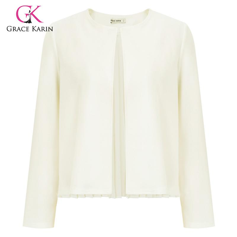 Grace Karin 2020 Kintted Women Cardigan Solid Sweaters Female Short Sleeve Casual Cardigan O Neck Tops Streetwear Sweater