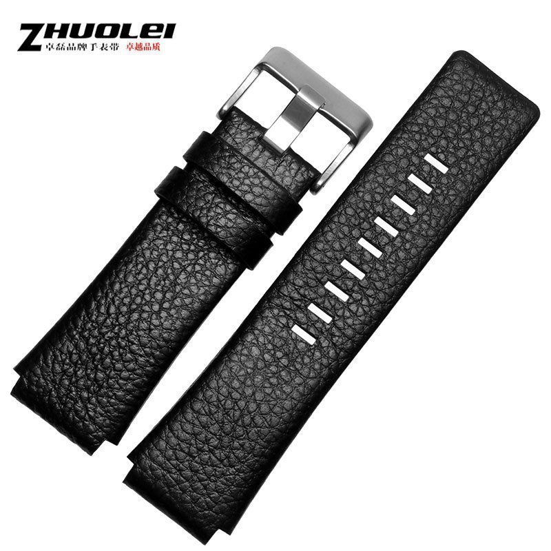 30mm 28mm Black New High Quality Watch Band Mens Strap For DZ1089 DZ1123 DZ1132 Substitute Convex Mouth Strap 30*22mm Black