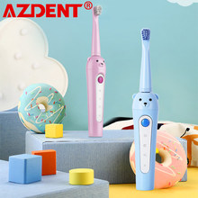 Mor niż 3 lata 3 modele AZDENT nowe elektryczne szczoteczki do zębów dla dzieci ładowanie USB