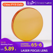 "Startnow CO2 לייזר פוקוס עדשה סין ZnSe PVD 12 18mm 19.05 20 mm F38.1 50.8 63.5 76.2 101.6 1.5 ""  4"" עבור לייזר מכונת חיתוך"