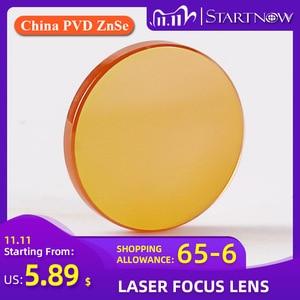 "Image 1 - Startnow CO2 לייזר פוקוס עדשה סין ZnSe PVD 12 18mm 19.05 20 mm F38.1 50.8 63.5 76.2 101.6 1.5 ""  4"" עבור לייזר מכונת חיתוך"