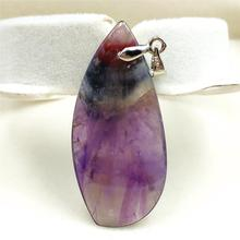 Doğal kanada Auralite 23 kolye kolye 41x19x7mm taş parti yıldönümü hediyesi kristal su damlası taş kolye takı