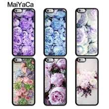 MaiYaCa Lavender Peonies Flower Rubber Phone Case For iPhone 5 6 6s 7 8 plus 11 Pro X XR XS Max Samsung galaxy S7edge S8 S9 S10(China)