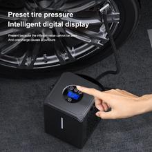 Compresseur d'air de voiture 6000mAh batterie pneu gonfleur portable électrique voiture pompe à Air numérique Auto pneu pompe pour voiture moto balle