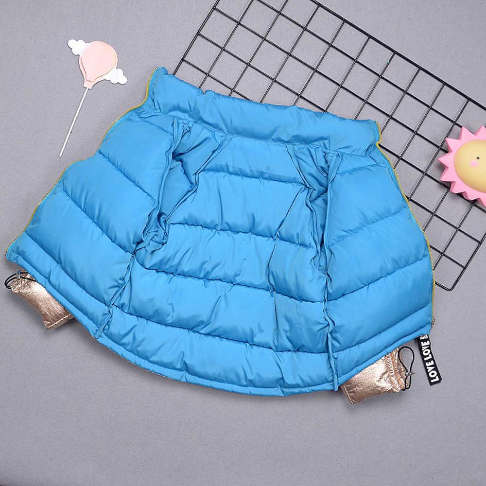 LOOZYKIT Boys Coat Winter Jacket Kids Down Cotton Coat Waterproof Snowsuit Gold Silver Jacket Hooded Warm Parka Girls Down Coats