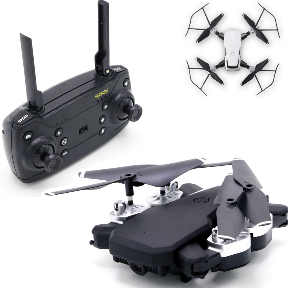 Rc Helicopters Drone HJ28 With Camera 1080 HD APP WIFI Connect Quadcopter Foldable Long Battery Drone For Kids Children's Gift