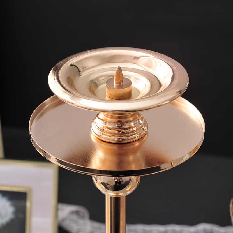 יוקרה פמוטים חתונת קישוט זכוכית רומנטי זהב הפנס פמוט מנורת Portavela מרכז דה שולחן XX50CH