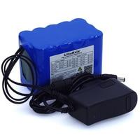 Liitokala 12 v 10ah 18650 li-lon bateria 12.6 v 10000 mah com bms placa de proteção de circuito dc 5.5*2.1mm + carregador 1a