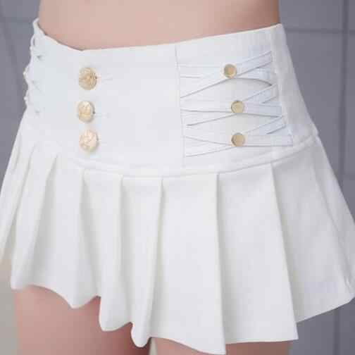 Plooirok Shorts Vrouwen 2019 Nieuwe Zomer Stijl All-Match Zwart Wit Stretch Hotpant Minirok Micro Korte WF94