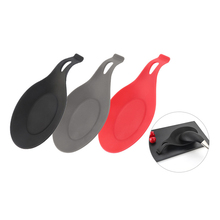 Silicone Spoon Rest Pad Kitchen Utensils Spatula Heat Resistant Placemat