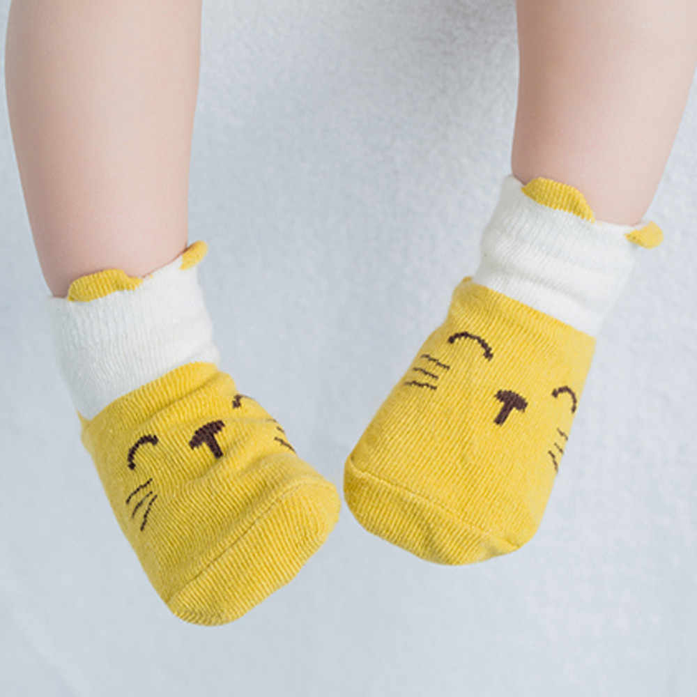 Children's Socks Autumn Winter 2019  Kids Infant Toddler Baby Boys Girls Cartoon Animals Anti-Slip Knitted Warm Socks  L400903