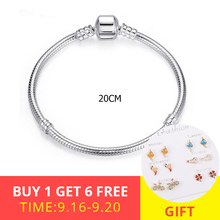 Recommend 100% 925 Sterling Silver trendy Snake Chain fits Charms beads Bracelets Fashion diy Jewelry making for Women Gifts