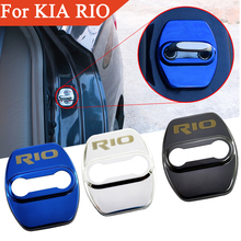FLYJ крышка дверного замка автомобиля защитная Пряжка защелка Стоп Анти-ржавчина автомобильные аксессуары интерьер для KIA RIO- стикер автомобиля