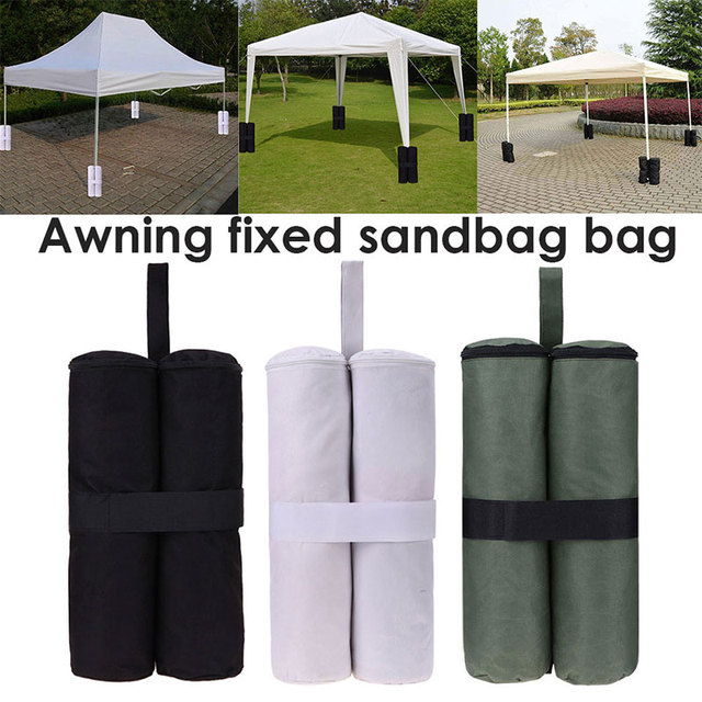Hot 1PC Outdoor Camping Tent Sand Bag Canopy Weights SandBag 420D Oxford Windproof Fixing Sandbag Tents