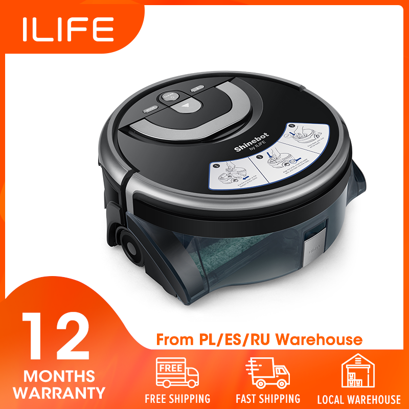 ILIFE Water-Tank Robot Disinfection Floor Washing Kitchen-Cleaning W400 Shinebot New