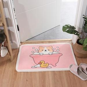 Image 4 - קריקטורה בעלי החיים שאגי שפשפת נגד החלקה לטקס תחתון כניסה מקורה רצפת מחצלת מכונה לשטוף מטבח שטיח אמבטיה שטיח