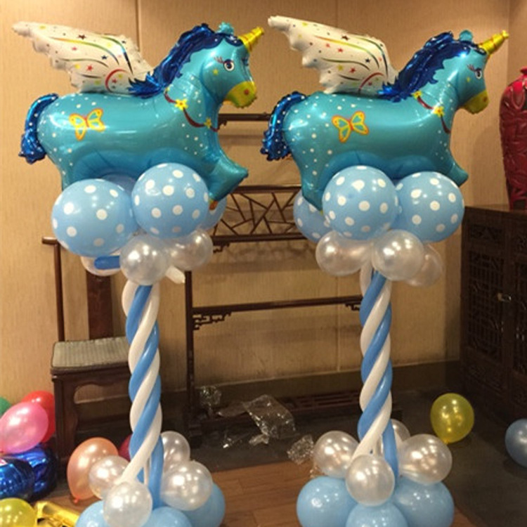 Large pegasus tianma aluminum membrane into helium post road lead at the top of the decorative aluminum foil balloons in Ballons Accessories from Home Garden