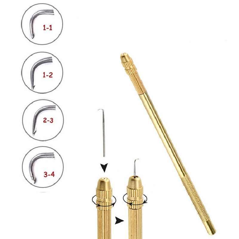 4 Uds mezcla 4 agujas de ventilación de tamaño (1-1,1-2,2-3,3-4) Hacer/reparar/arreglar/tejer frontal/pelucas de encaje completo peluquín y soporte