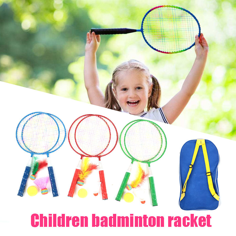Random Color Badminton Court Children Badminton Racket Badminton Racket Badminton Set Metal Durable