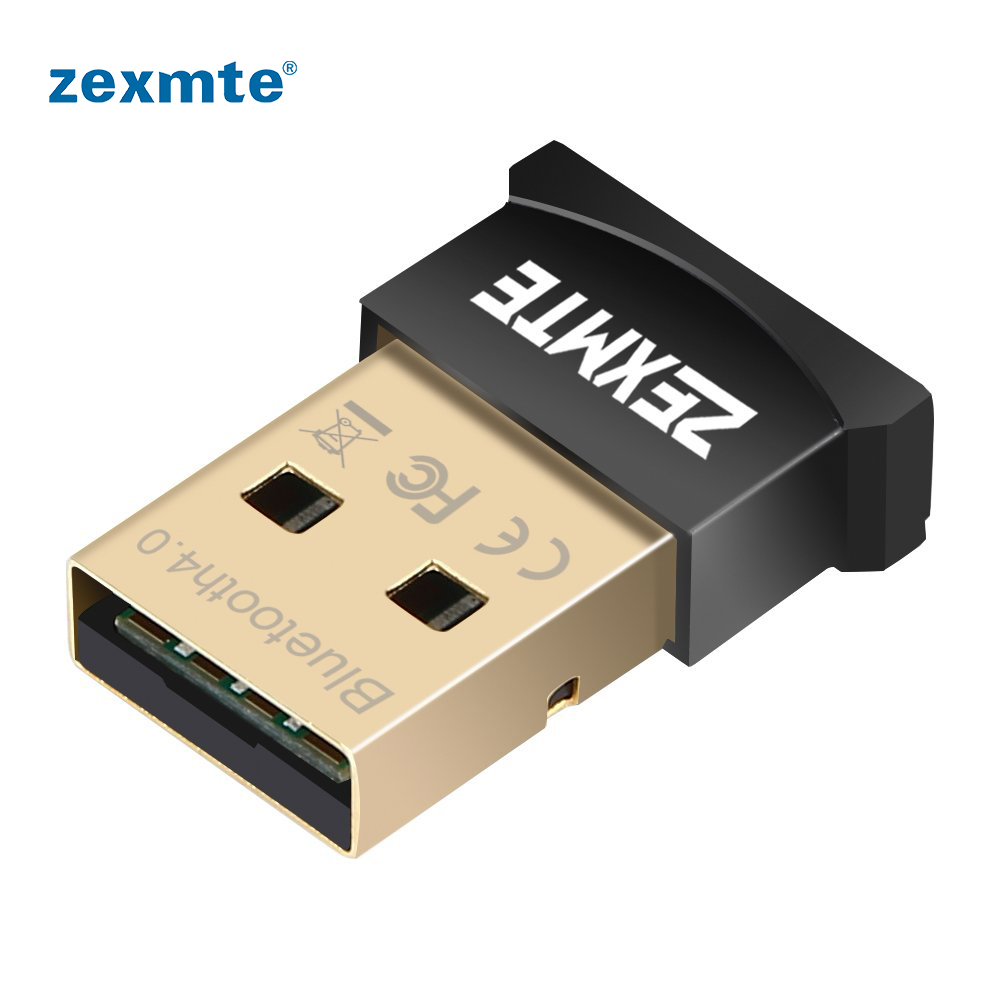 Zexmte Bluetooth USB Adapter CSR 4.0 Dongle Receiver Support Windows10/8/7/Visa/XP For Desktop Laptop Mouse And Keyboard Headset