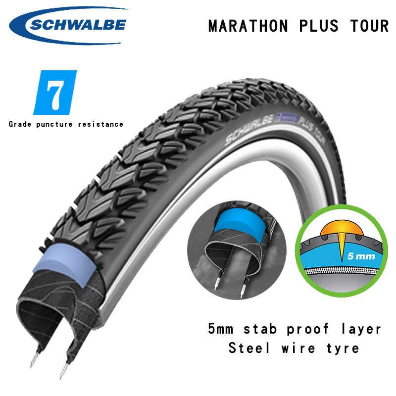 "26/"" Schwalbe Marathon Plus Puncture Protection Tour Bike Cycle Tyres  700c"