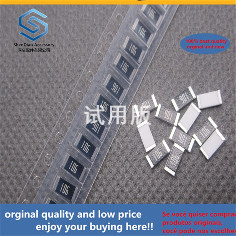 50pcs 100% Orginal New Best Quality SMD Resistor 2010 10M Resistance Silk Screen 106 5% 3 / 4W Resistance 100 Pcs 10 Yuan