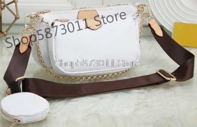 Verkopen Goed Lady Wit Drie In Een Mahjong Tas Luxe Handtas Enkele Schouder Messenger Bags Voor Vrouwen Louis Brede Schouder riem