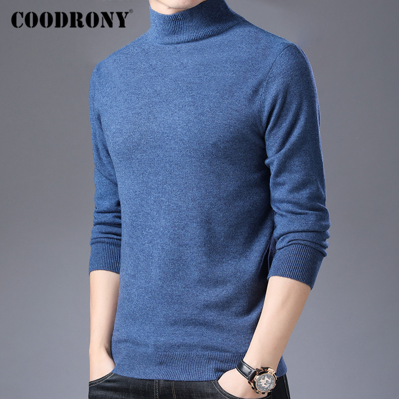 COODRONY Brand Turtleneck Sweater Men Casual Pull Homme 2019 Winter Thick Warm Cashmere Sweaters Merino Wool Pullover Men C3001